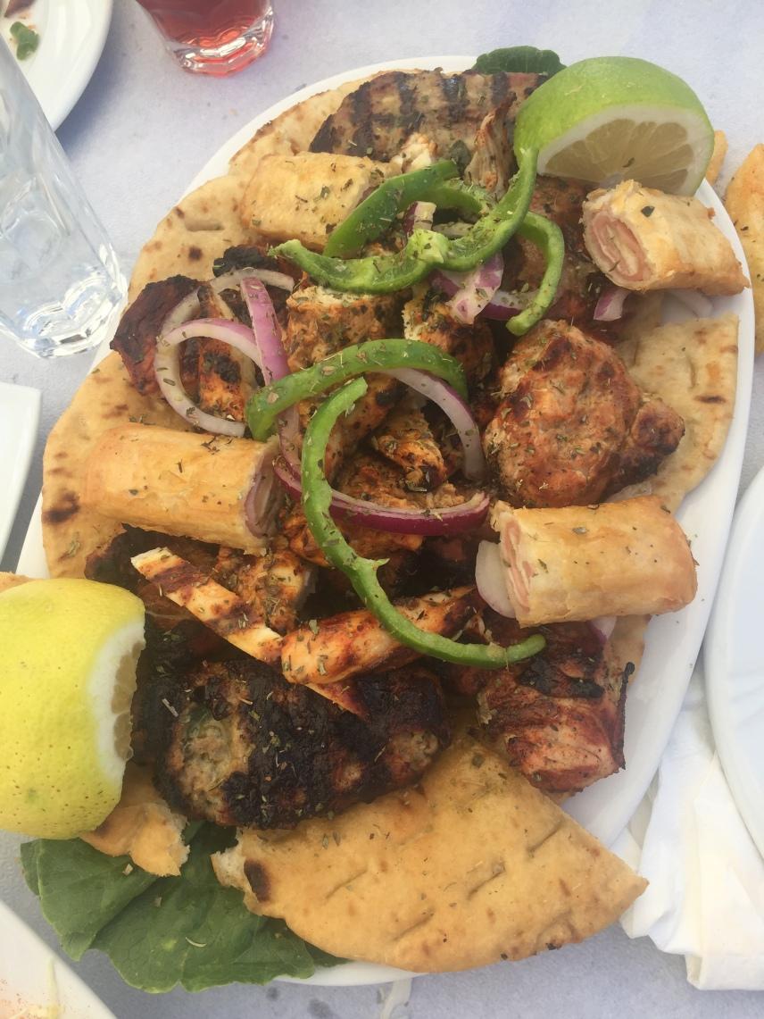Mixed Meat & Pita Plate