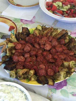 Greek Sausage with Peppers