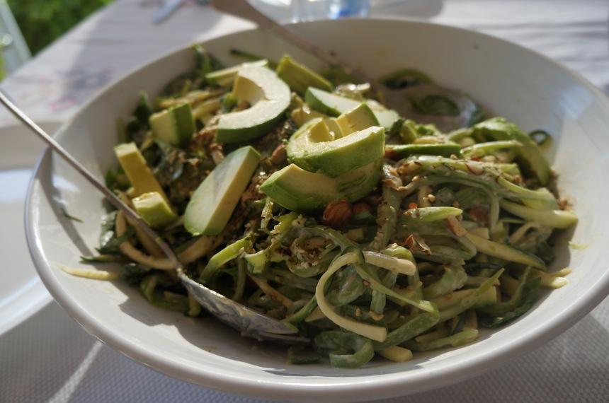 zucchini & flat bean salad