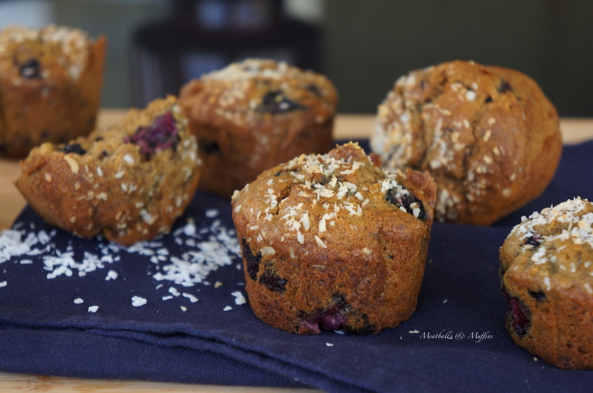 Blackberry & Coconut Muffins