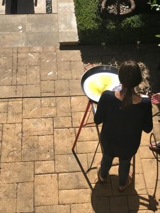 Adding the sofrito
