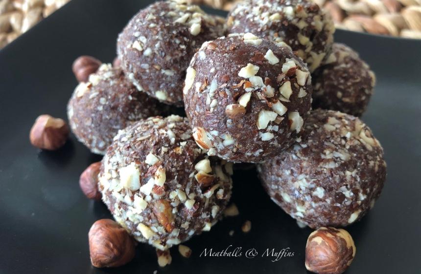 Pile of Cacoa Hazelnut Bliss Balls