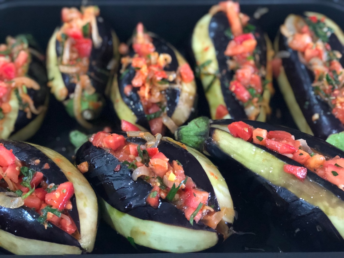 Turkish Stuffed Eggplants (Imam Bayildi)