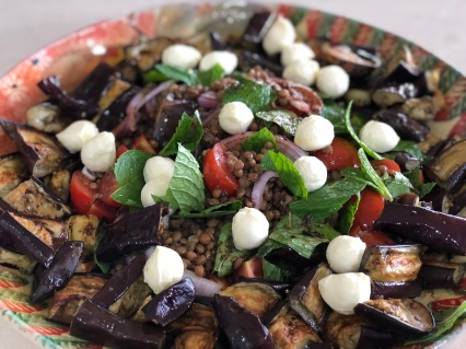 Lentils & Roasted Eggplant Salad 2