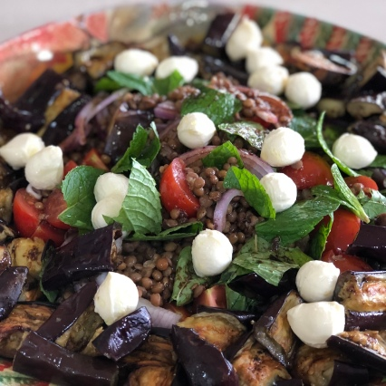 Lentils & Roasted Eggplant Salad 2
