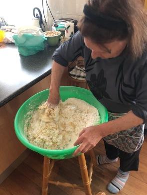 Making Greek Easter Sweet Bread